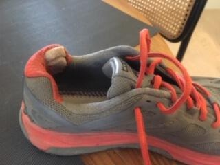 Damaged shoe